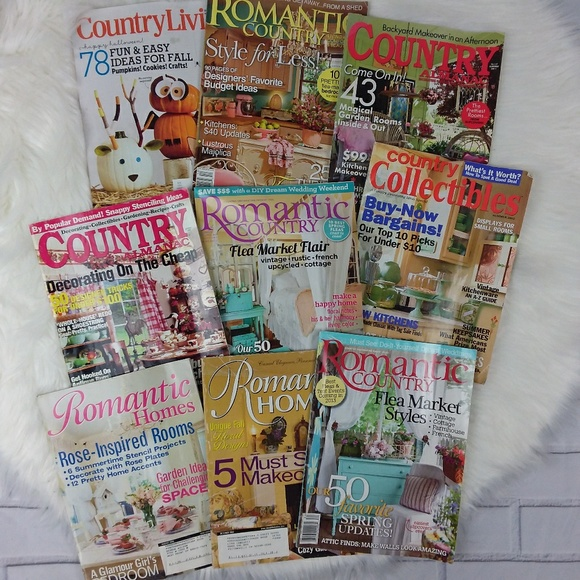 9 Magazines Romantic Homes Country Cottage Decor